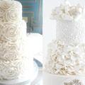 Білий весільний торт: ніжність і витончена романтика