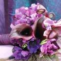 Весільний букет фіолетовий - символ розкоші і багатства