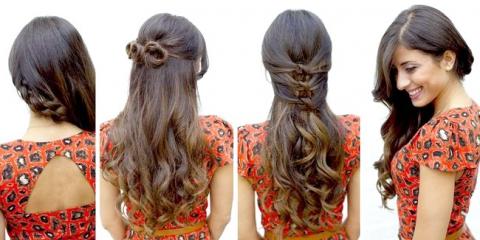 3 Зачіски в школу на розпущене довге волосся відео посібник