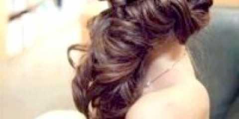 Зачіска кучері на бік