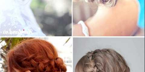 Весільні зачіски з косами на середні волосся