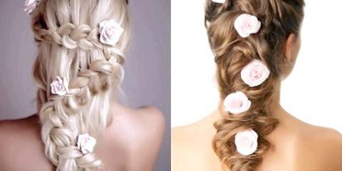 Весільні зачіски з накладними пасмами + уроки