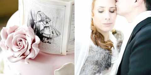 Зимова весільна казка: наречена аліса в країні чудес