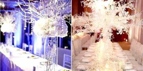 Як прикрасити весільний стіл взимку: надихаємося морозними ідеями