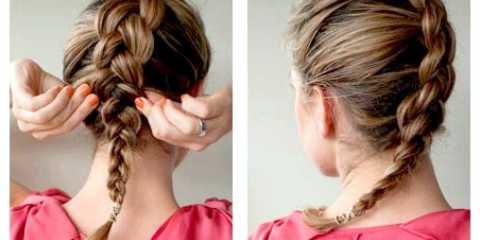 Легка зачіска на кожен день з косою