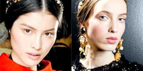 Модні зачіски осінь 2012 від dolce & # 038- gabbana