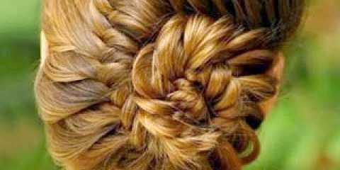 Зачіска коса черепашка