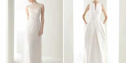 Пряме весільне плаття: шикарна елегантність нареченої