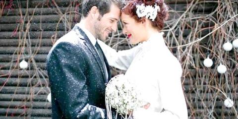Весілля взимку: декор кристально білосніжний