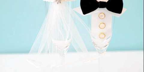 Весільні келихи своїми руками: наречений і наречена