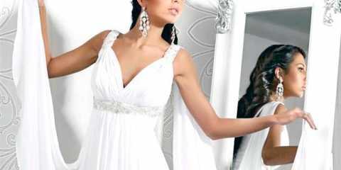 Весільні сукні ампір: їх заслуговують не тільки богині!