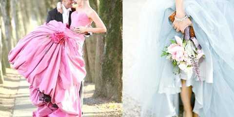 Кольорові весільні сукні - порушення традицій або символіка?