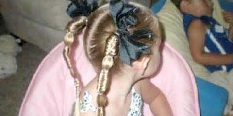 Шкільна зачіска для дівчинки