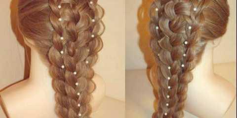 Фотоідея, як заплести красиві ажурні коси