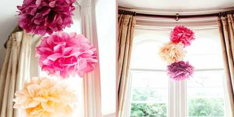 Помпони з паперу своїми руками на весілля: стильно і бюджетно